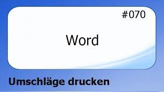 Word #070 Umschläge drucken [deutsch]