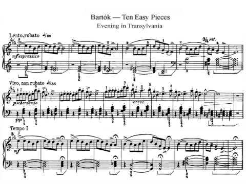 [Zempléni Kornél] Bartók Béla: Evening In Transylvania  For Piano