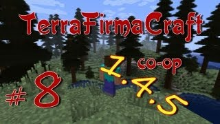 Minecraft 1.4.5: TerraFirmaCraft Co-op #8 В гостях