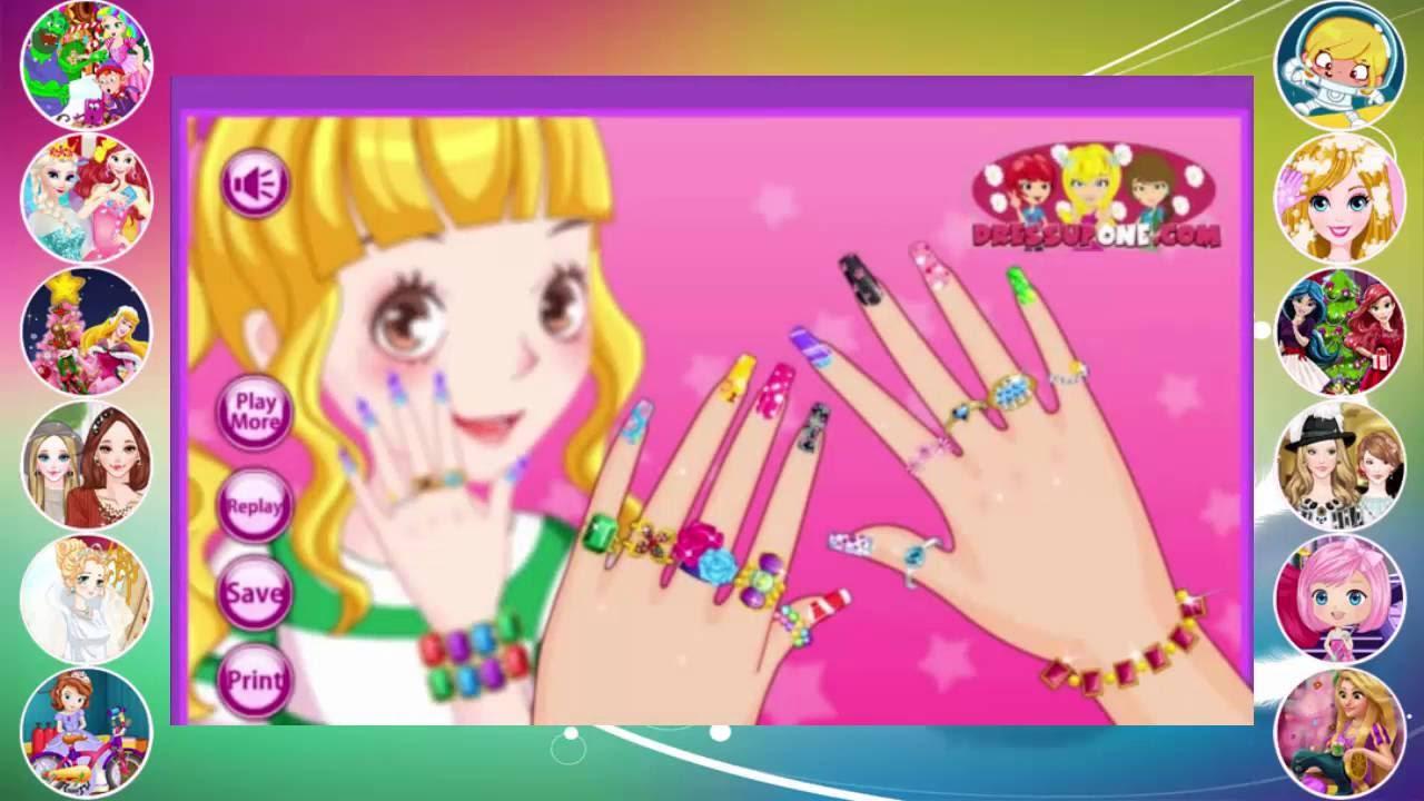 Nail Art Ideas barbie nail art games to play : Fashion Nail Salon 2 - Girl Game Walkthrough - Video Games for ...