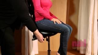 EuroStyle Nail Tech Saddle Chair - Salon Furniture Review
