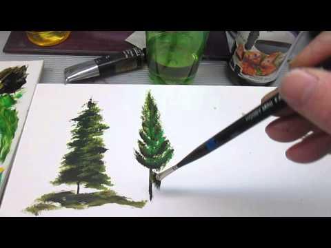 Peindre des sapins partie 1 youtube for Peindre une baignoire en acrylique