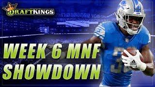 DRAFTKINGS NFL DFS WEEK 6 MNF SHOWDOWN: PACKERS vs. LIONS