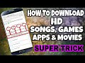 How To Download HD Movies, Songs, Games & Apps FREE || SUPER SECRET ||