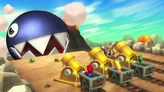 Mario Party 9 MiniGames - Mario Vs Luigi Vs Peach Vs Daisy (Master CPU)