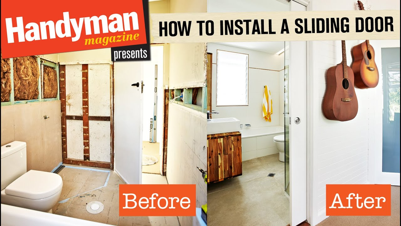 How To Install A Sliding Door YouTube - How to install bathroom door