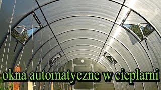 Cieplarnia z poliwęglanu - okna automatyczne