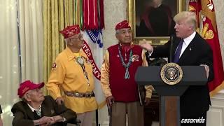 """President Trump Calls Elizabeth Warren """"Pocahontas"""" at Native American Event"""