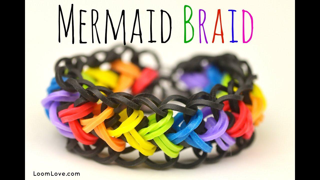 How To Make A Rainbow Loom Mermaid Braid Youtube