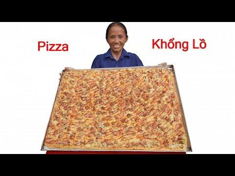 Bà Tân Vlog - Làm Bánh Pizza Siêu To Khổng Lồ Ăn Mừng 2,6 Triệu Sub   Foci
