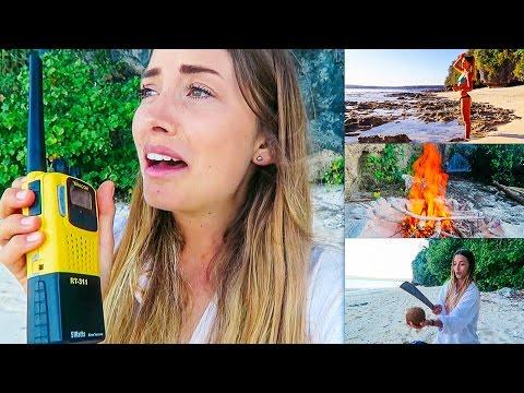 Girl Stranded on a Deserted Island!