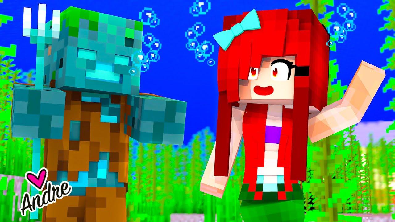 Minecraft   Me saluda el rey de los zombies ahogados   Andre se hace gamer