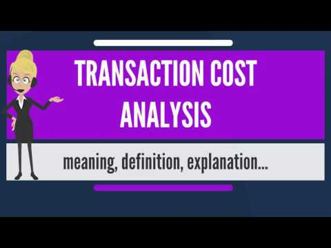 What is TRANSACTION COST ANALYSIS? What does TRANSACTION COST ANALYSIS mean?