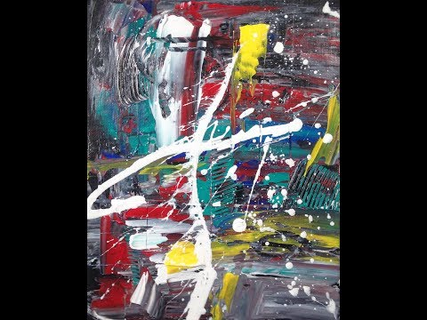 AbSTRACT PAINTING DEMO/ COLLERAN ART