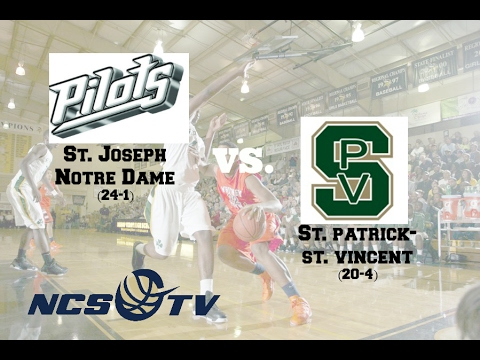 St. Patrick-St. Vincent vs St. Joseph Notre Dame High School Boys Basketball FULL GAME LIVE 2/11/17