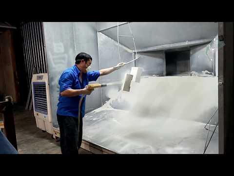 Manual powder coating gun small metal containers electrostatic spraying