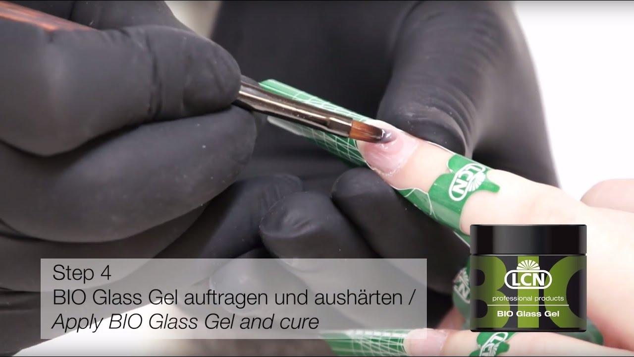 Bio Glass Gel Tutorial Innovatives Gel Für Empfindliche Nägel Von Lcn Youtube