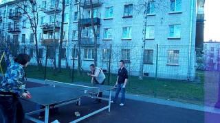 настольный теннис. обучение подаче