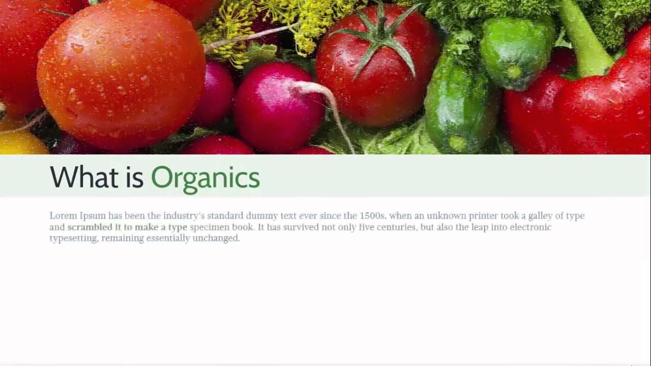 organic farm free powerpoint template - youtube, Modern powerpoint