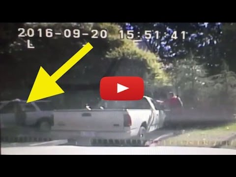 Dash cam footage of Charlotte, North Carolina police officers shooting Keith Lamont Scott on Tuesday