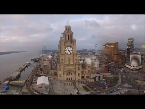 Aerial views of Liverpool & River Mersey (not my photos)