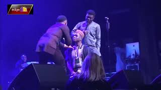 Kenny Blaq Kneels Down For Woli Arole To Pray For Him Live In London