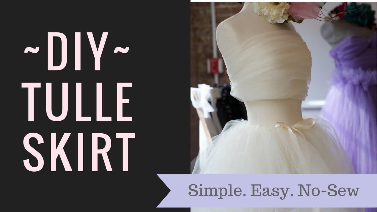 Easy Diy Tulle Skirt No Sew Under 12 Youtube