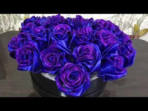 #Розы из атласной ленты