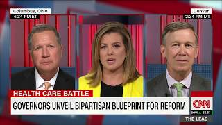 Governors unveil bipartisan health care plan (Kasich and Hickenlooper full CNN interview)
