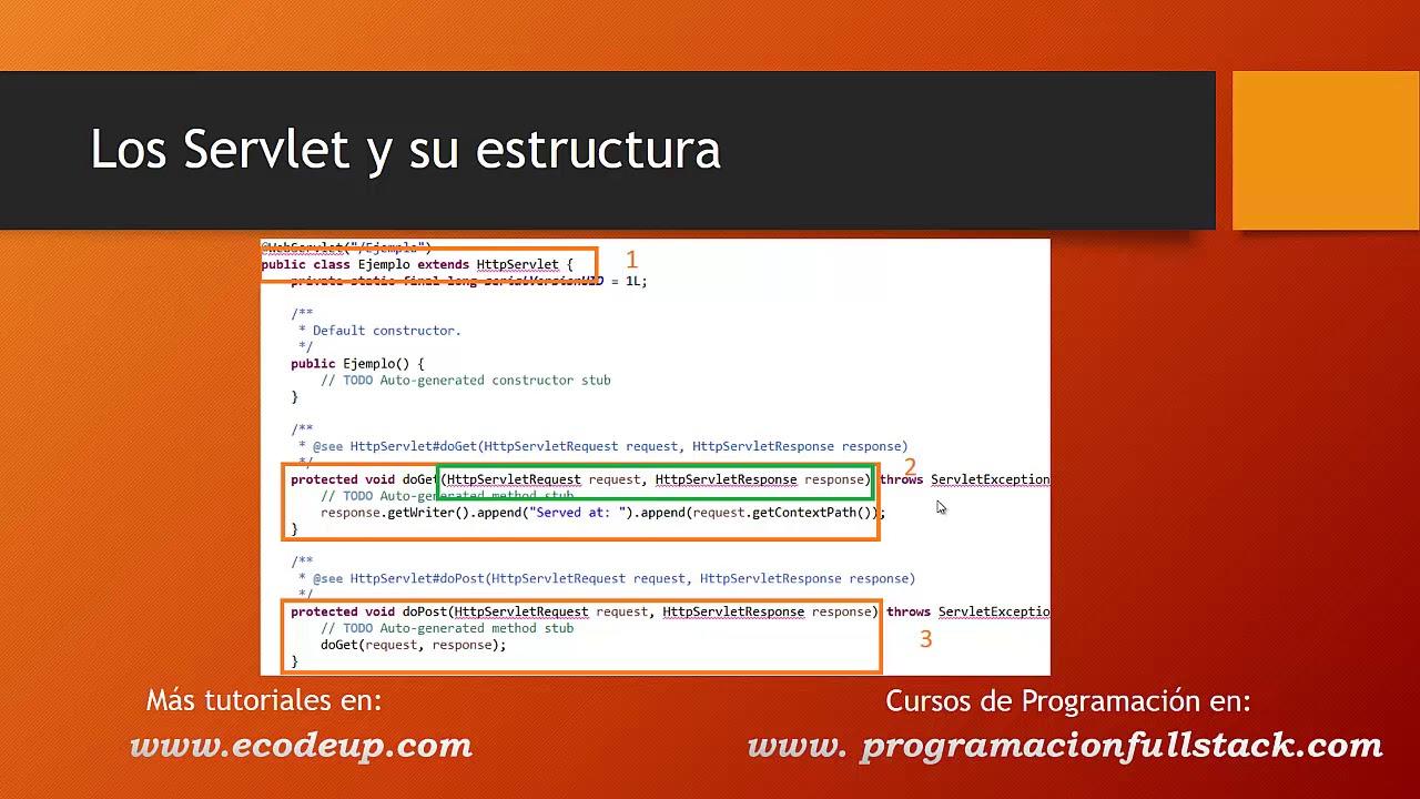 Los Servlets Y Su Estructura En Aplicaciones Java Web