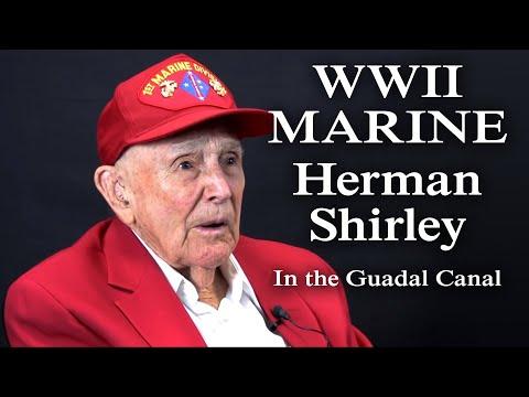 WWII Marine Veteran Herman Shirley Discusses Guadalcanal