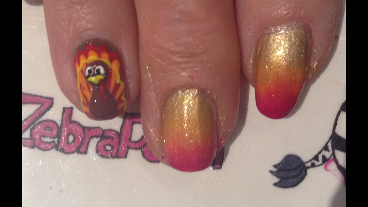 3d Turkey Nail Art Tutorial Youtube