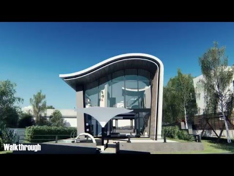3d Architecture Animation Bioclimatic House (university Project)   YouTube