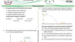 11.Sınıf Fizik Meb Kazanım Testleri-7