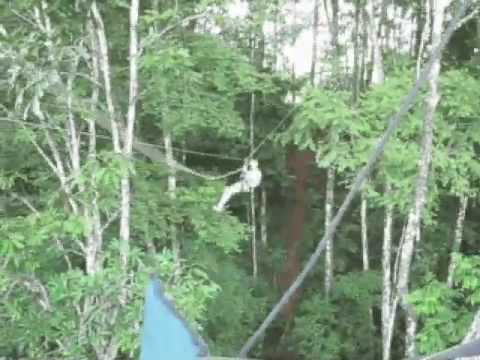 Zipline to platform El Remanso, Osa Peninsula, Costa Rica