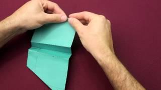 #MissãoGEnx   Aprenda a fazer o avião de papel Morceguinho