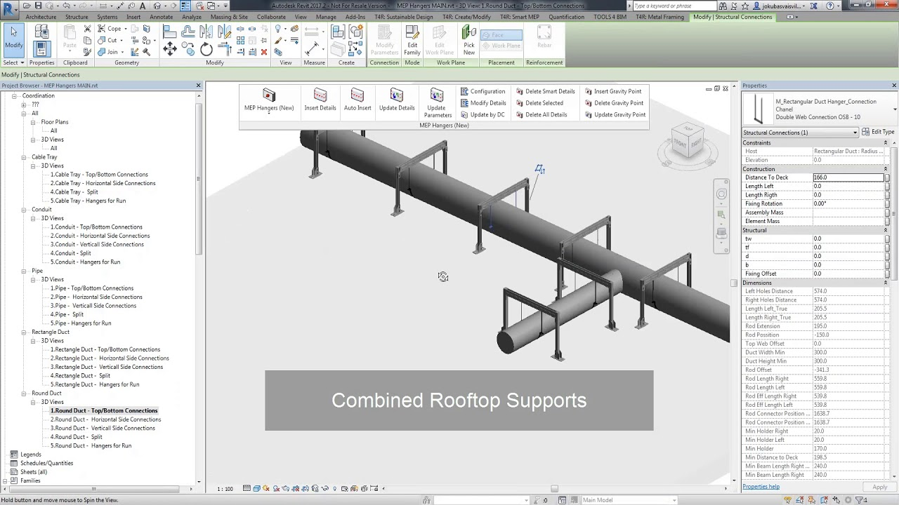 Hangers & Supports Distribution in Revit® MEP | Smart Hangers