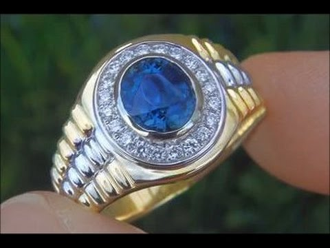 Genuine Rolex Men S Unheated Vvs Blue Sapphire Amp Diamond
