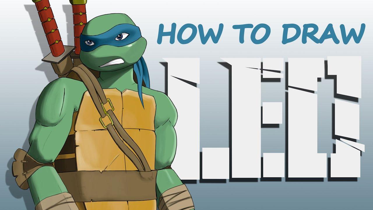 how to draw leonardo from teenage mutant ninja turtles youtube