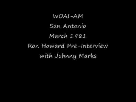 WOAI AM San Antonio March 1981 Ron Howard with Johnny Marks