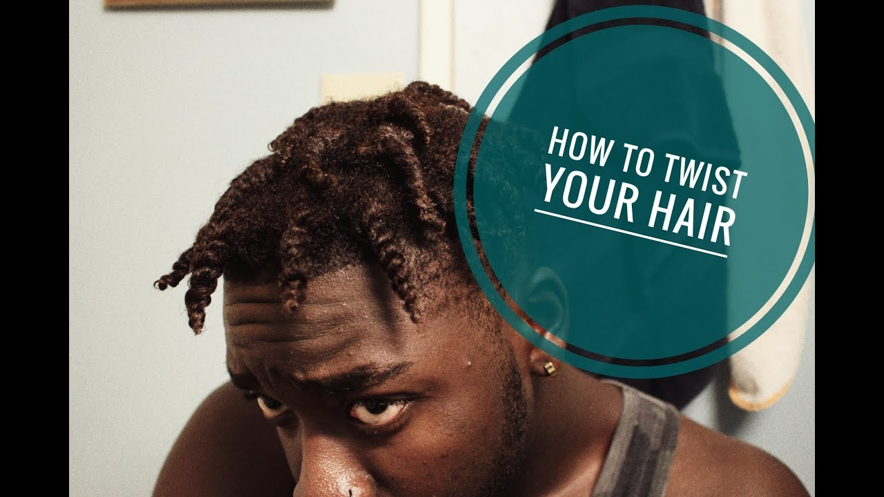 How To How To Twist Your Own Hair Youtube