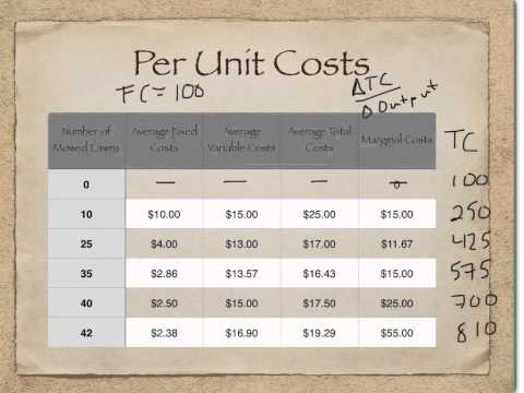 Per Unit Costs