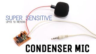 How to make Condenser Microphone at home | perfect for audio recording using lm358 ic