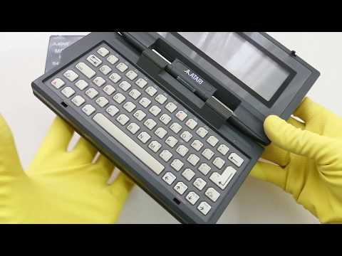 Atari Portfolio from 1989 - does it need repair 💓 16-bit Palmtop #ASMR video