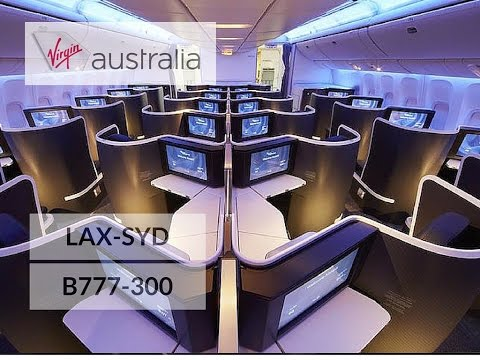 Virgin Australia Business Class B777-300 Los Angeles to Sydney VA 2