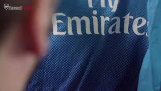 Arsenal Away kit 2017 with James Hanson