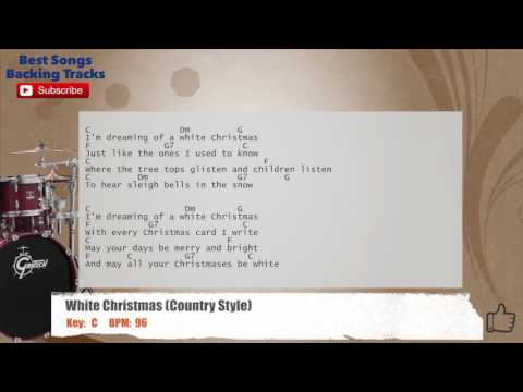 White Christmas (Country Version) Drums Backing Track with chords and lyrics