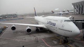 Lufthansa Boeing 747-8 D-ABYQ LH 490 Frankfurt-Seattle Economy Class Seat 27K Trip Report
