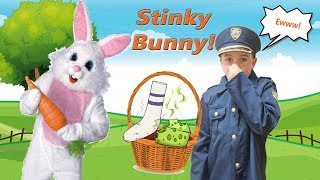Sneaky Buster Bunny Ruins Easter with stinky socks and dog treats