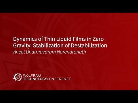 Dynamics of Thin Liquid Films in Zero Gravity: Stabilization of Destabilization